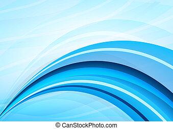 藍色, 白色 背景, 波浪
