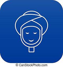 藍色, 矢量, 治療, 面部, 礦泉, 圖象