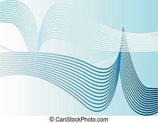 藍色, 矢量, 背景, 摘要