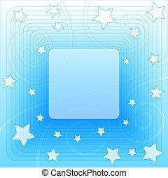 藍色, 矢量, 背景, 星