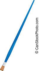 藍色, 矢量, 處理, 刷子, 插圖