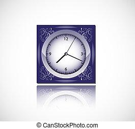 藍色, 矢量, 鐘