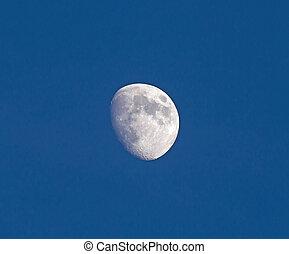 藍色, 突起, 打蠟, 天空, 月亮