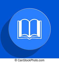 藍色, 网, 書, 套間, 圖象