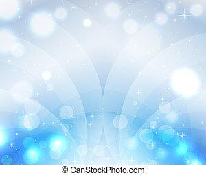 藍色, 美麗, 天堂, 魔術, 歡樂, 是, 明信片, 光,  edited, 天空, 背景, 波浪, 星, 罐頭, 詞, 環繞, 標簽, 聖誕節
