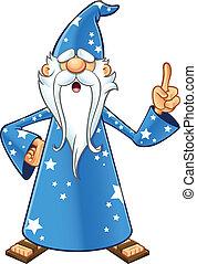 藍色, 老, 巫術師, -, 想法, 有