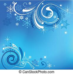 藍色, 聖誕節, 背景