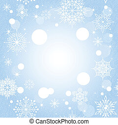 藍色, 聖誕節, 背景, 雪花
