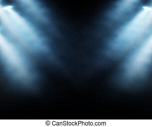 藍色, 聚光燈