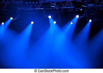 藍色, 聚光燈, 階段
