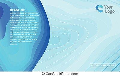藍色, 背景。, 概念, ......的, 矢量, design., topographic 地圖, 外形, 背景。