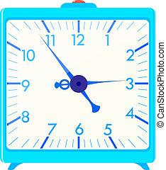 藍色, 警報, 廣場, 矢量, 插圖