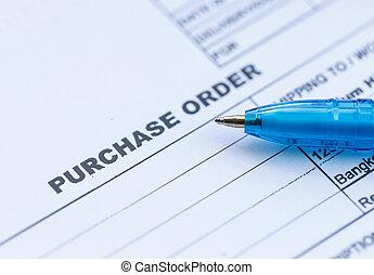 藍色, 購買, 鋼筆, 預訂, office?