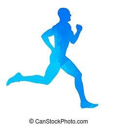 藍色, 賽跑的人
