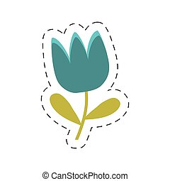 藍色, 郁金香, 花, 春天, 傷口, 線