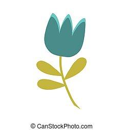 藍色, 郁金香, 花, 春天