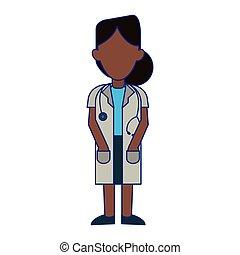 藍色, 醫學, 線, avatar, 卡通