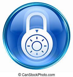 藍色, 鎖, 脫開, 圖象