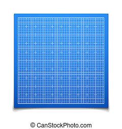 藍色, 陰影, 廣場, 柵格, 被隔离