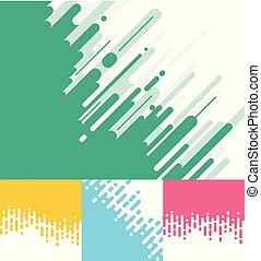 藍色, 集合, 環繞, 粉紅色, 摘要, 過渡, 線, halftone, 背景。, 黃色, 綠色