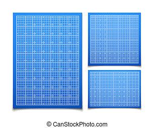 藍色, 集合, 被隔离, 廣場, 柵格, 陰影