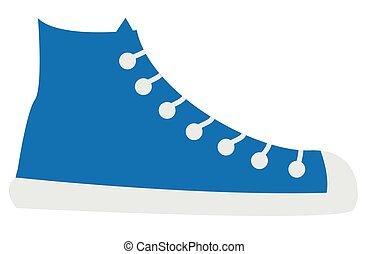 藍色, 鞋子