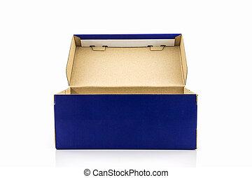 藍色, 鞋盒, 由于, 剪, path.