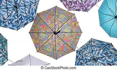 藍色, 顏色, 天空, 傘, 針對
