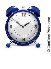 藍色, 鬧鐘, 矢量