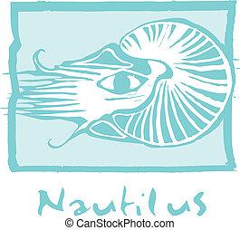 藍色, 鸚鵡螺