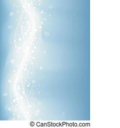 藍色, 點, 光, 光, defocused, 蒼白