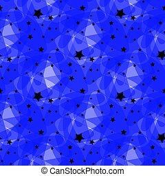 藍色, 10, 做, 星, 圖案, eps, 矢量, 黑色的背景