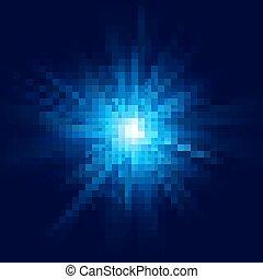 藍色, 10, 星突發, effect., 閃光, eps, 深, 輕的爆炸, 透明, 發光