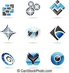 藍色, 13, 集合, 摘要, 黑色, 圖象
