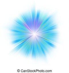 藍色, 8, 明亮, star., eps