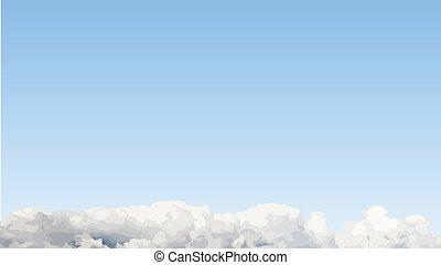 藍色, cloudscape, 矢量, 天空, 背景。