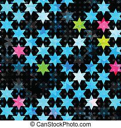 藍色, grunge, 摘要, 星, seamless