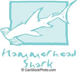 藍色, hammerhead鯊魚