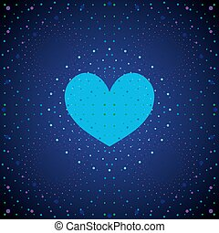 藍色, heart., 空間