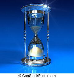 藍色, hourglass