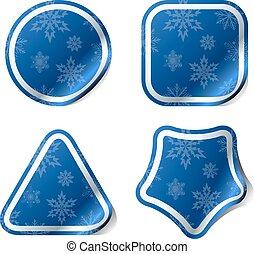 藍色, pattern., 屠夫, 雪花, 聖誕節