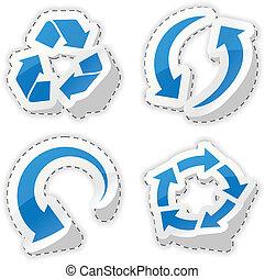 藍色, stickers., 箭