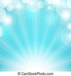 藍色, sunburst