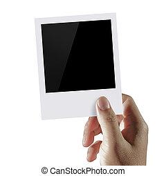 藏品, 二, 空白, 手, 相片
