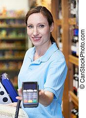 藏品, 助理, 銷售, 機器, 信用, 女性, 卡片