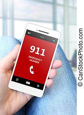 藏品, 緊急事件, 移動電話, 數字, 911, 手