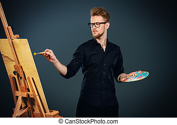 藝術家, 油漆