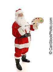藝術家, 聖誕老人, 充足觀點