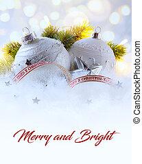 藝術, 光, 樹, 假期, 裝飾, 背景, 白色, 聖誕節