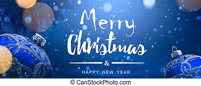 藝術, 圣誕節裝飾, 上, 藍色的雪, 背景